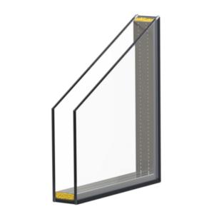 Ug 1,1 dubbelglas 24 mm (HR++)